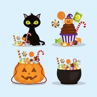 Des bonbons ou un sort, joyeux halloween