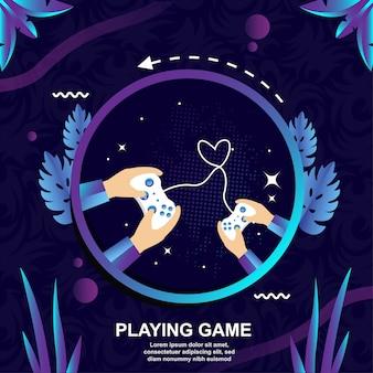 Le bonheur de jouer à des jeux de contrôle avec des amis