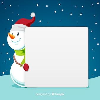 Bonhomme de neige avec signe vierge