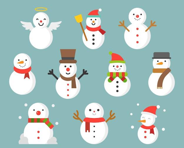 Bonhomme de neige icône hiver et noël