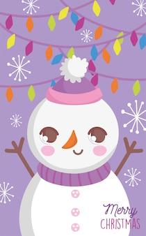 Bonhomme de neige mignon joyeux noel