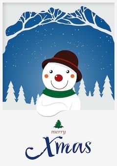 Bonhomme de neige de noël pour les vacances de noël