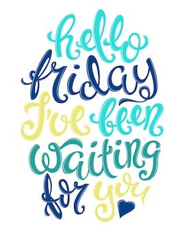 Bonjour affiche du vendredi