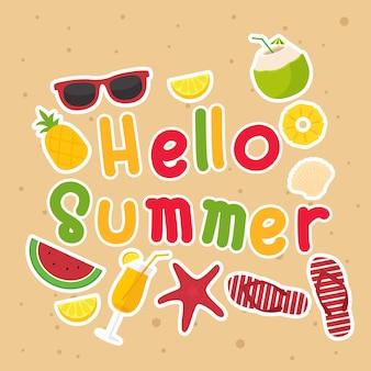 Bonjour affiche d'été