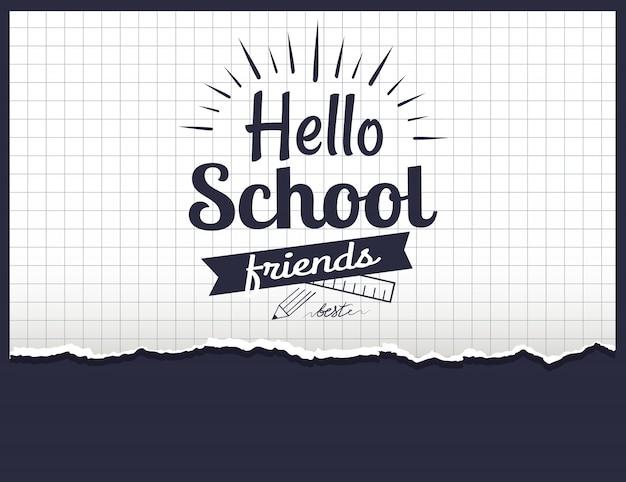 Bonjour les amis d'école