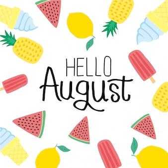 Bonjour août
