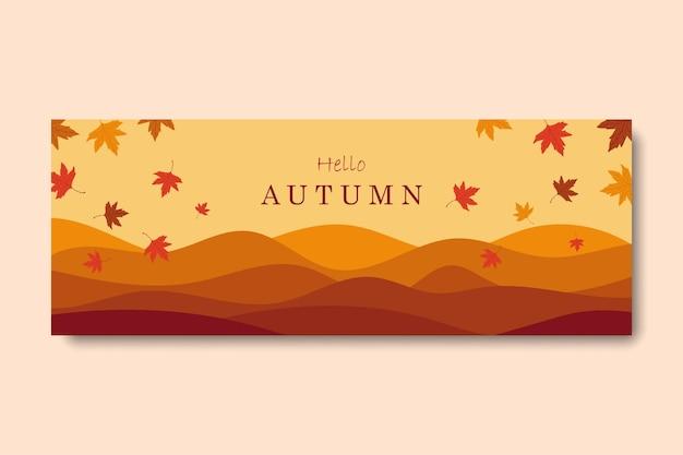 Bonjour automne fond de couverture facebook