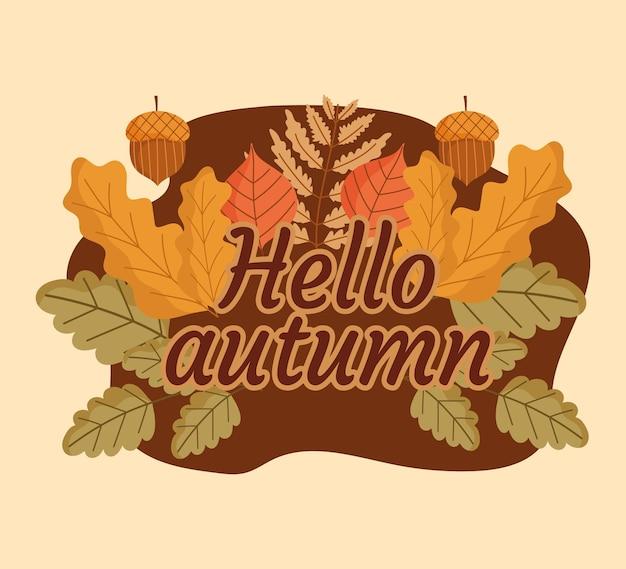 Bonjour bannière d'automne