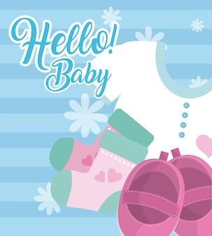 Bonjour carte bébé
