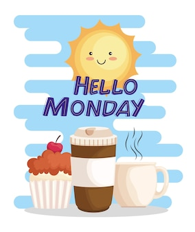 Bonjour carte du lundi