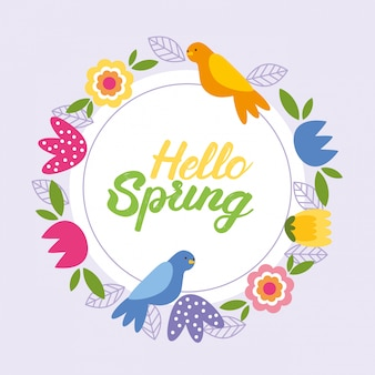 Bonjour carte de printemps