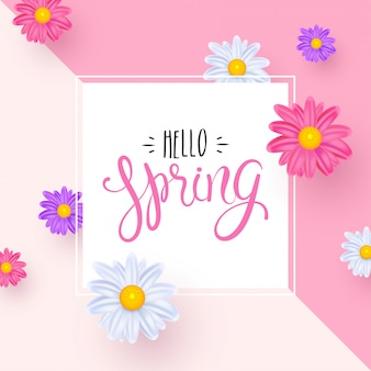 Bonjour la carte de voeux de printemps