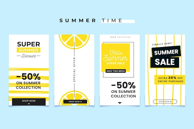 Bonjour collection histoire instagram d'été