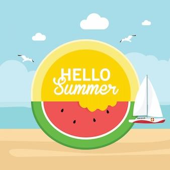 Bonjour le concept d'été