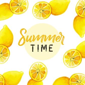 Bonjour conception créative de fond d'été