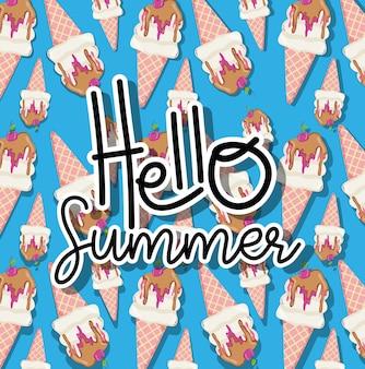 Bonjour les dessins animés d'été