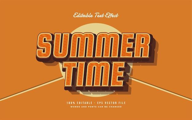 Bonjour effet de style de texte modifiable d'été