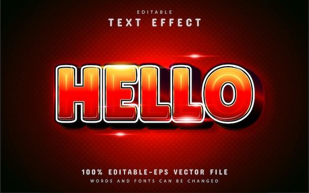 Bonjour effet de texte avec dégradé