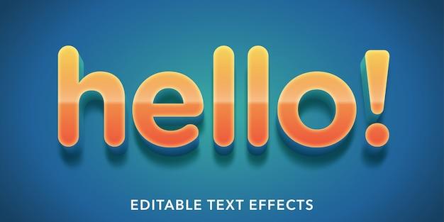 Bonjour effets de texte modifiables