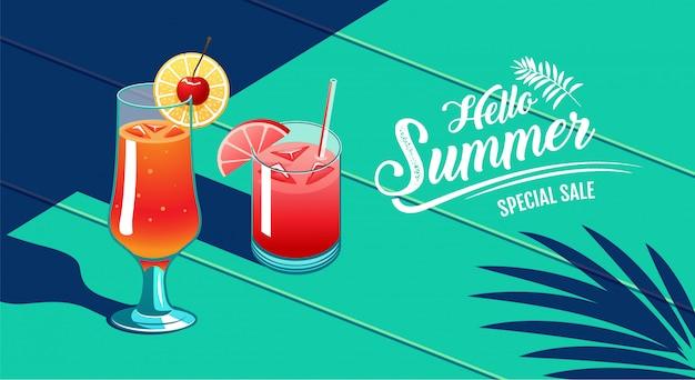 Bonjour l'été, bannière design