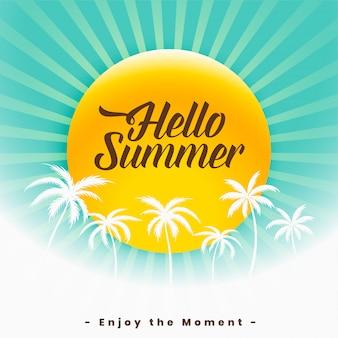 Bonjour l'été beau fond