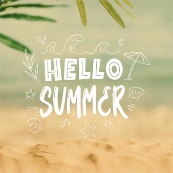 Bonjour l'été; gravure avec image