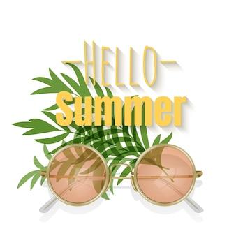 Bonjour l'été avec des lunettes de soleil