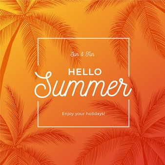 Bonjour l'été avec des palmiers