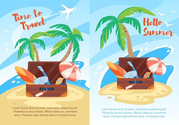 Bonjour l'été, le temps de voyager set circulaire flyer
