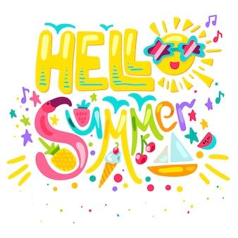 Bonjour l'été tropical
