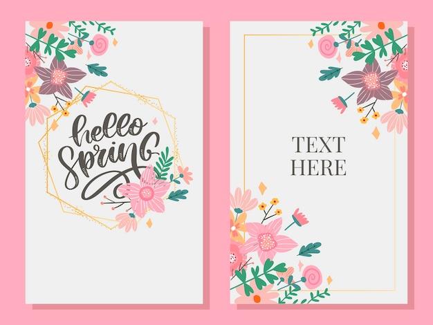 Bonjour fleurs de printemps