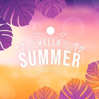 Bonjour flou fond d'écran d'été