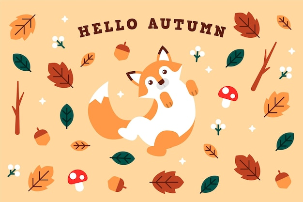 Bonjour fond d'écran d'automne