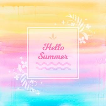 Bonjour fond d'été coloré