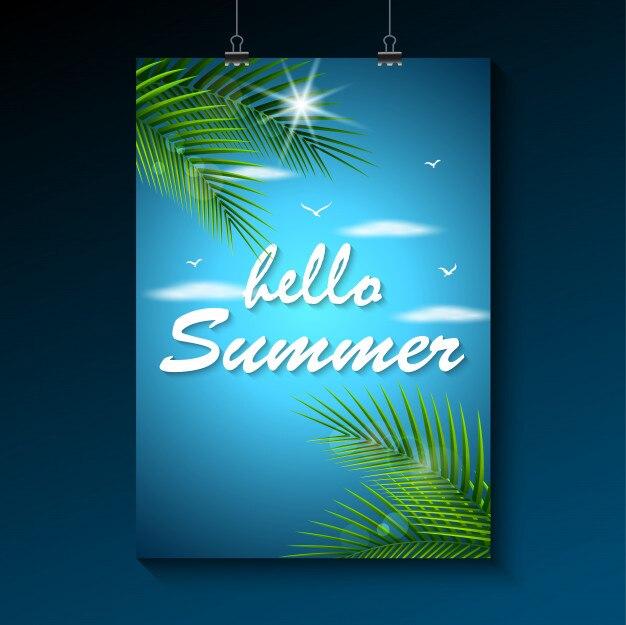 Bonjour fond d'été. fond de plage bel été