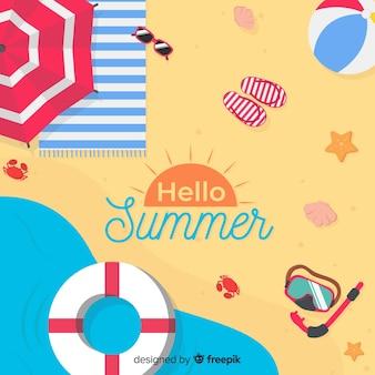 Bonjour fond d'été