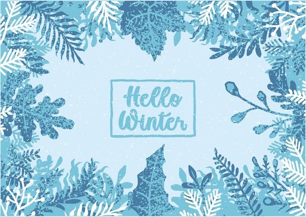Bonjour fond d'hiver, illustration vectorielle