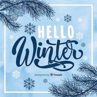 Bonjour fond d'hiver