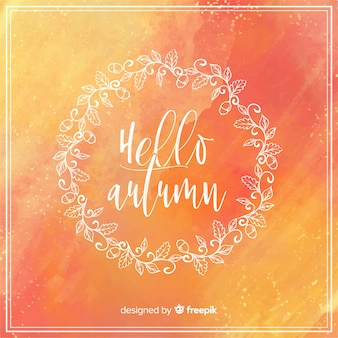 Bonjour fond de lettrage automne