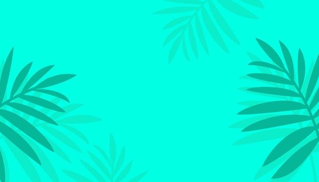 Bonjour fond de modèle d'été avec des feuilles tropicales