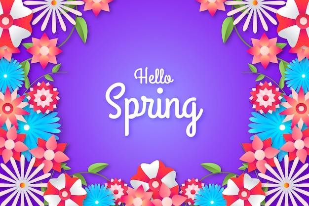 Bonjour fond de printemps coloré
