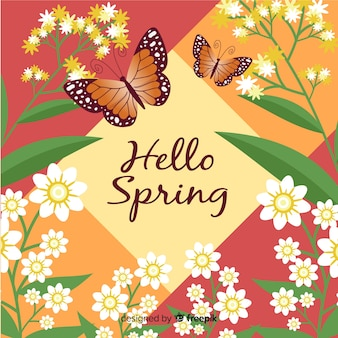 Bonjour fond de printemps