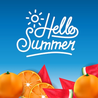 Bonjour fruits tropicaux d'été