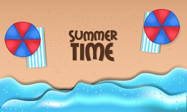Bonjour l'heure d'été vacances voyage plage de sable