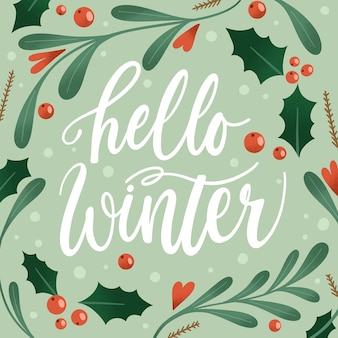 Bonjour l'hiver - lettrage