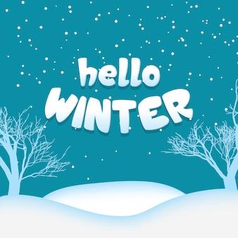 Bonjour hiver neige fond extérieur