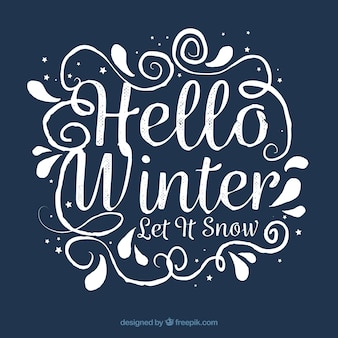 Bonjour l'hiver, qu'il neige