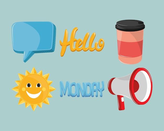 Bonjour icônes du lundi