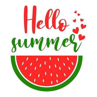 Bonjour inscription de slogan de motivation d'été