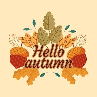 Bonjour lettrage d'automne
